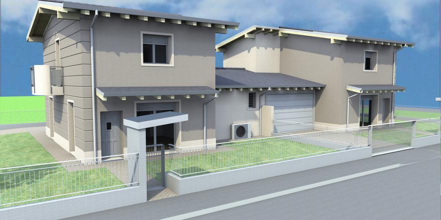 Progetto ville bifamiliari caravaggio vendute edilmira for Ville bifamiliari moderne