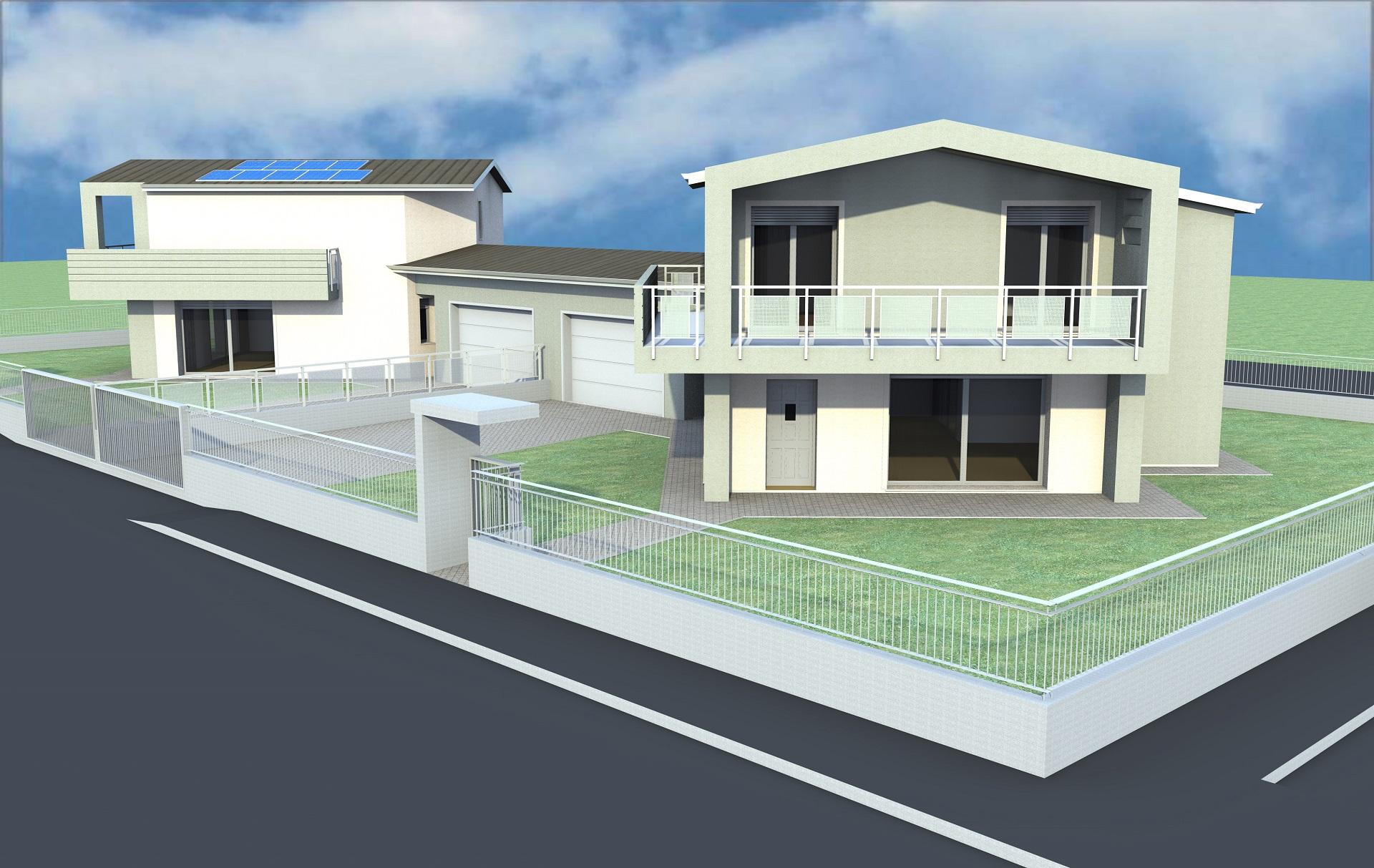 Progetto villa bifamiliare edilmira for Progetto villa moderna nuova costruzione